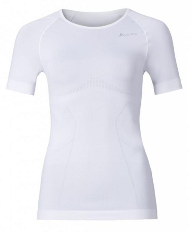 Odlo Dames Shirt Korte mouw/ Crew Neck Evolution warm, Wit 181011