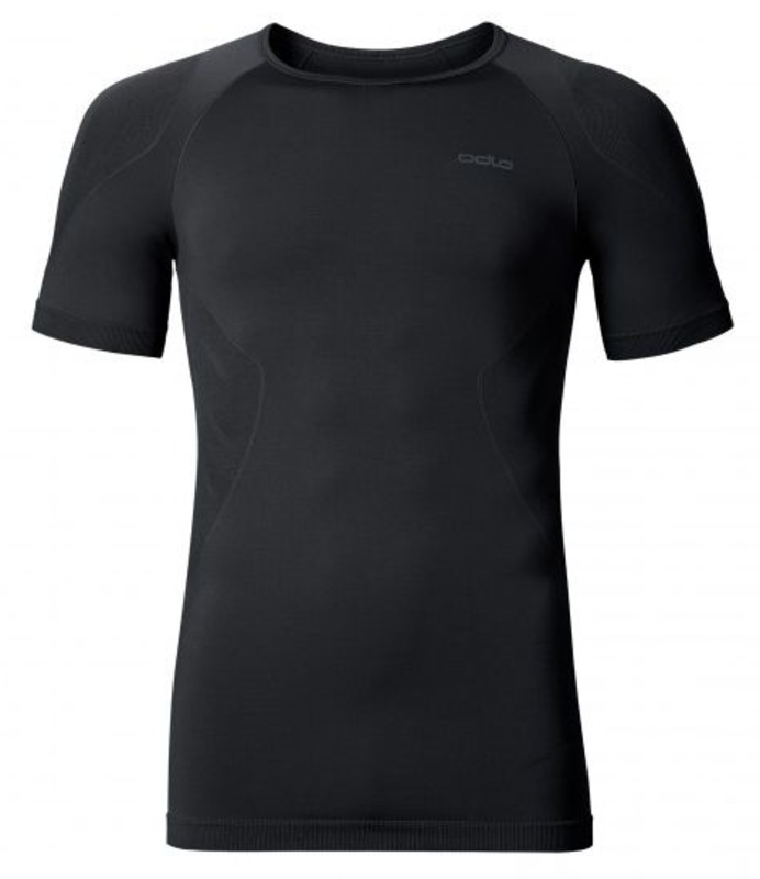 Odlo Heren Shirt Korte mouw/ Crew Neck Evolution light, Zwart