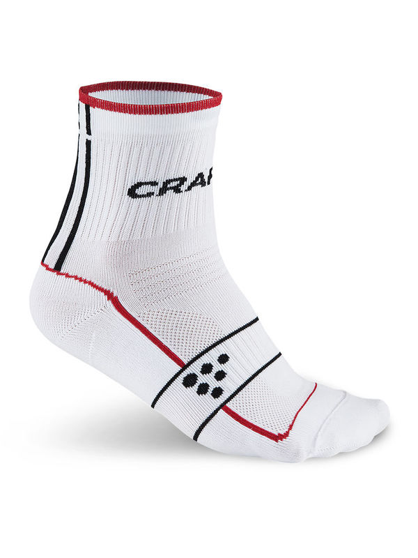 Craft Cool Bike Grand Tour Sock Wit/Rood