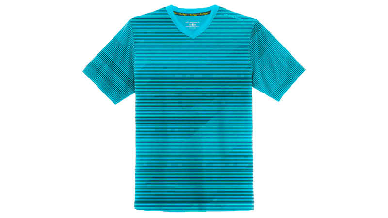 Brooks Men's Fly-by short sleeve vneck [heather hydrate lightspeed]