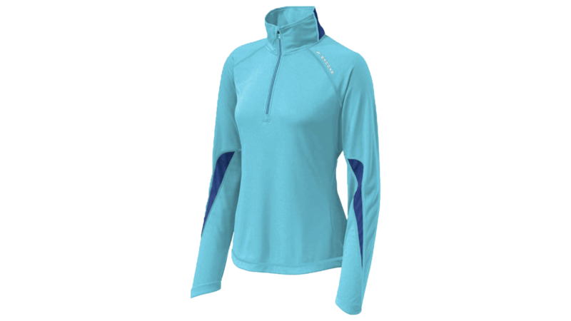 Brooks Women's Essential Run long sleeve halfzip [aquarius/midnight]