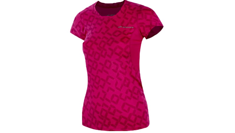 Brooks Women's Equilibrium II short sleeve [fuchsia/digiprint]