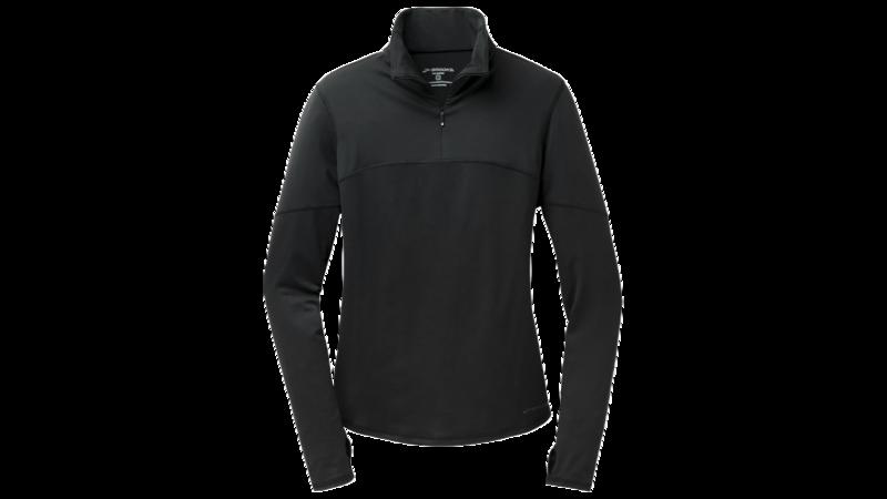 Brooks Women's Essential long sleeve 1/2 zip III [black]