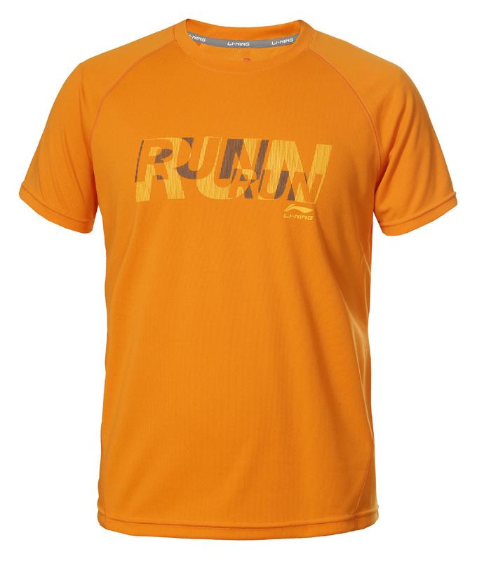 Li-Ning Stuart T-shirt met RUN print oranje color 466