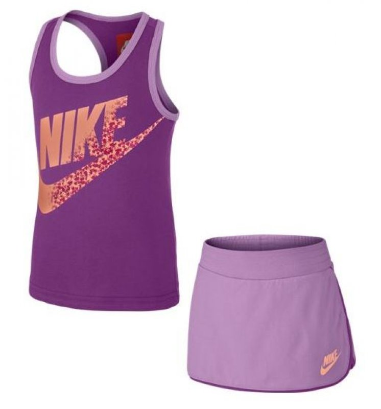 Nike Skirt and Top set Little Girls paars 644524