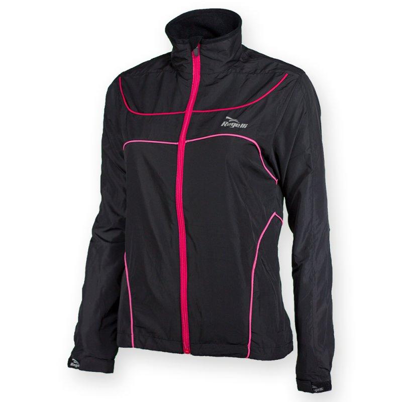Rogelli Runningjacket Madu Black Red Pink Dames