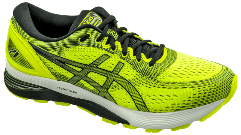 AsicsNimbus 21 safety yellow/black