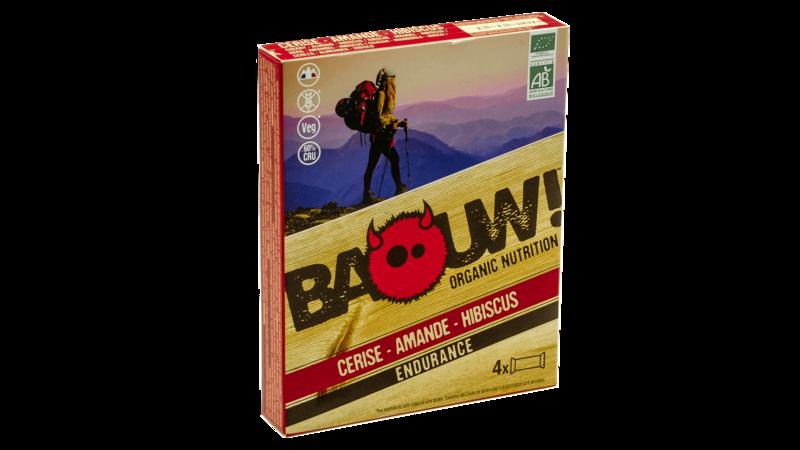 Baouw! 4-pack reep 30g [kers-amandel-hibiscus]