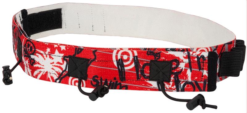 Superrun start Nummerband met gel lusjes rood