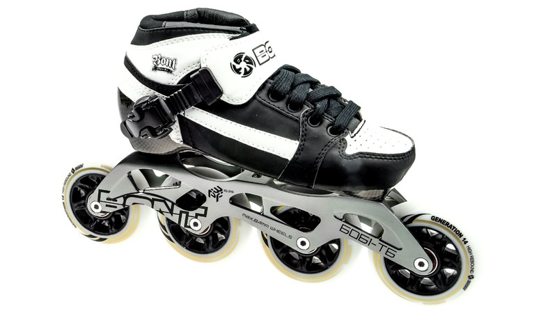 Bont Pursuit Skate White/Black Skate Kids 84mm