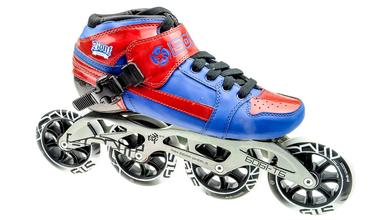 Bont Pursuit Skate Blauw/Rood 4x100mm