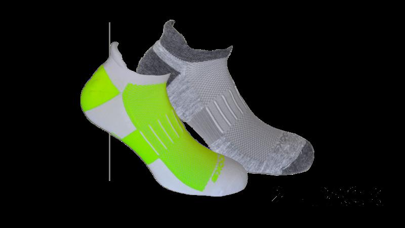 Brooks Unisex Ghost Midweight 2-pack socks [Oxford/asphalt white/nightlife]