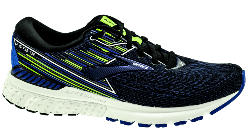 Brooks Adrenaline GTS 19 black/blue/nightlife [2E-WIDE]