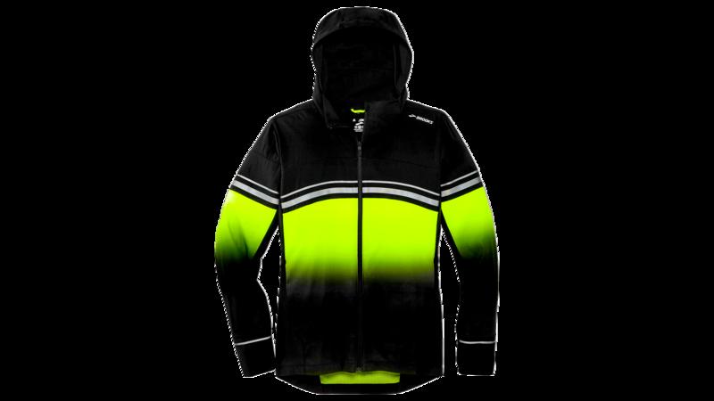 Brooks Men's Canopy jacket reflective [nightlife/black]