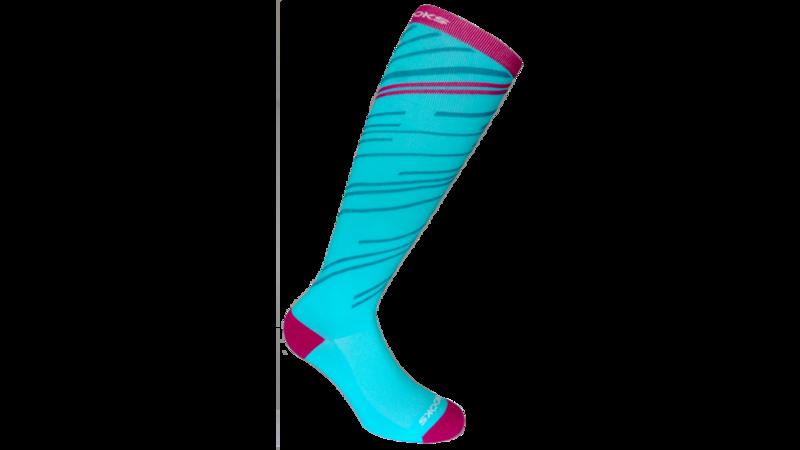 Brooks Unisex Fanatic Compression socks [turquoise/fuchsia]