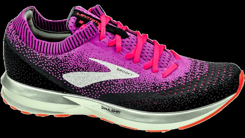 Brooks Levitate 2 purple/fiery coral/black