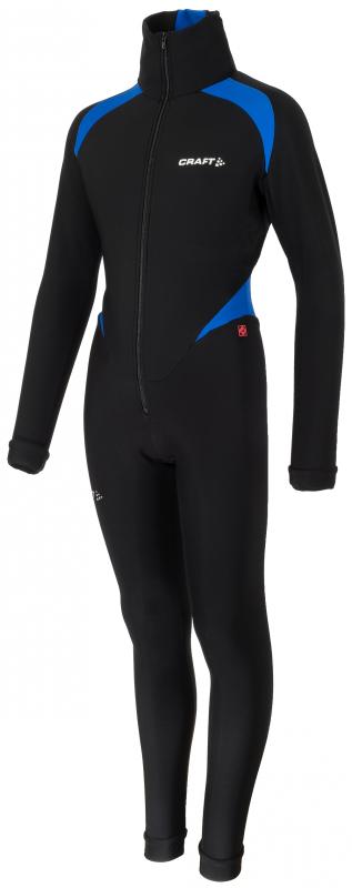 Craft Thermo schaatspak colorblock zwart/blauw