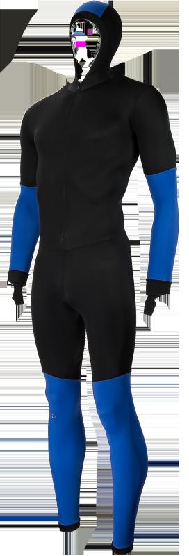 Craft speedpak colorblock zwart/blauw