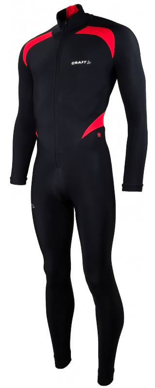 Craft Thermo schaatspak colorblock zwart/rood