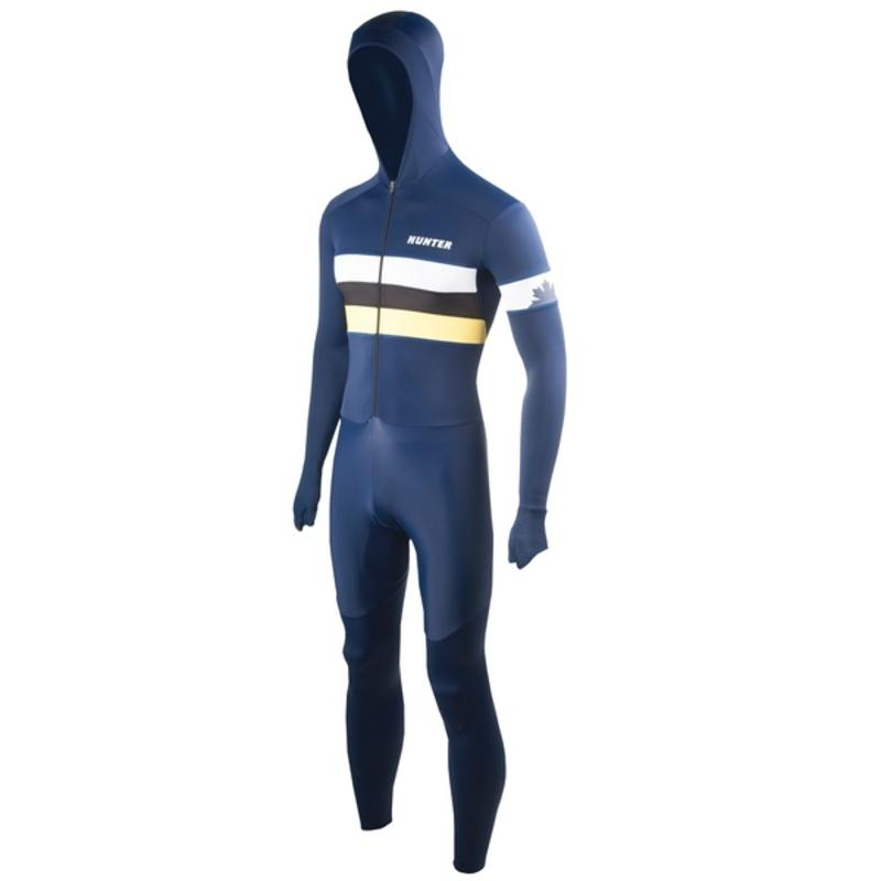 Hunter Speedsuit RTR lycra met cap Retro Navy-yellow