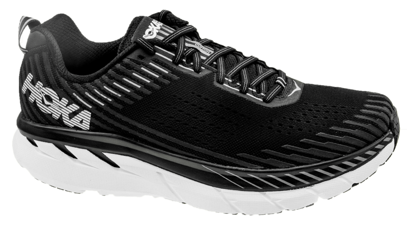 HokaClifton 5 black/white [WIDE]