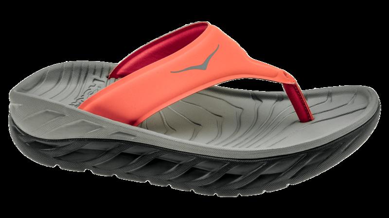 Hoka One One Women's Ora recovery flip - herstel slippers - ebony/ember glow