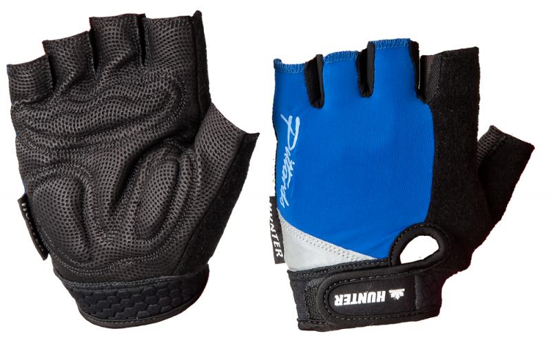 Hunter Wielerhandschoen De Luxe Zwart/Kobalt