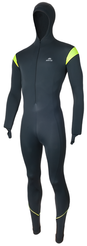 Hunter performance Speedpak lycra titanium/geel