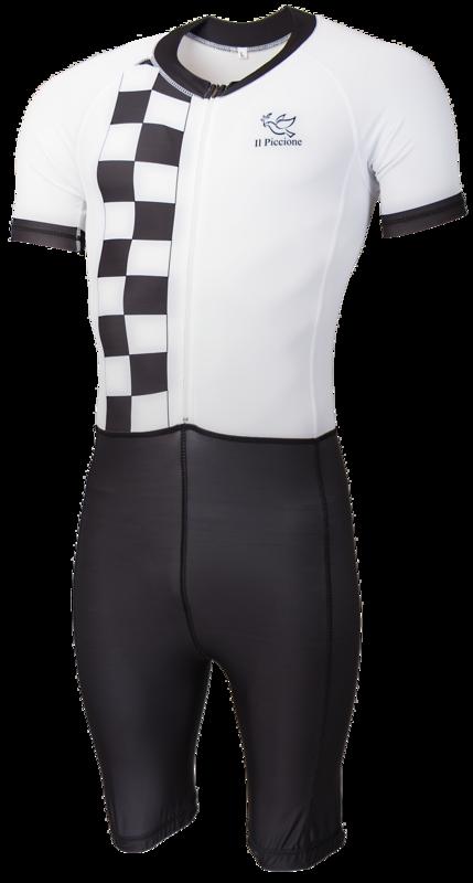 Il Piccione Skatesuit Black/White