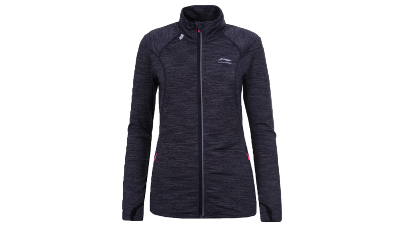 Li-Ning Women's running jacket - HEDY [dark grey/black]