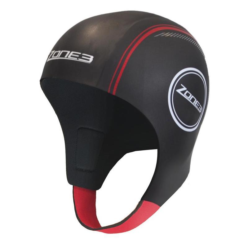 Zone3 Neoprene Swim Cap Black/Red