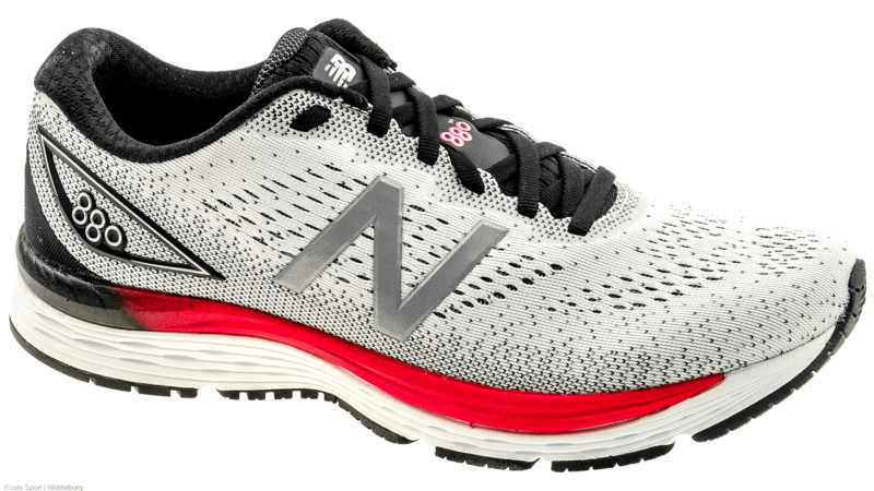 New Balance 880 v9 white/black/energy red