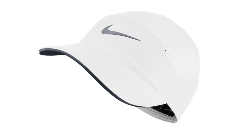 Nike Women's Dri-Fit AeroBill running cap [white/cool grey]