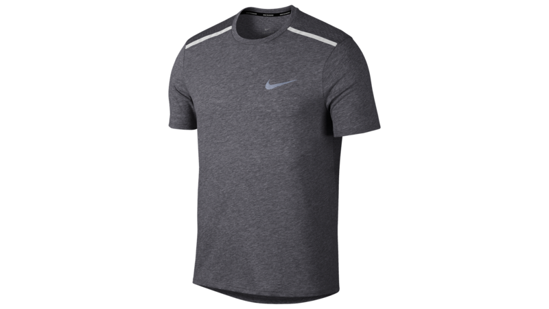 Nike Breathe Tailwind Running Top gunsmoke/metallic silver