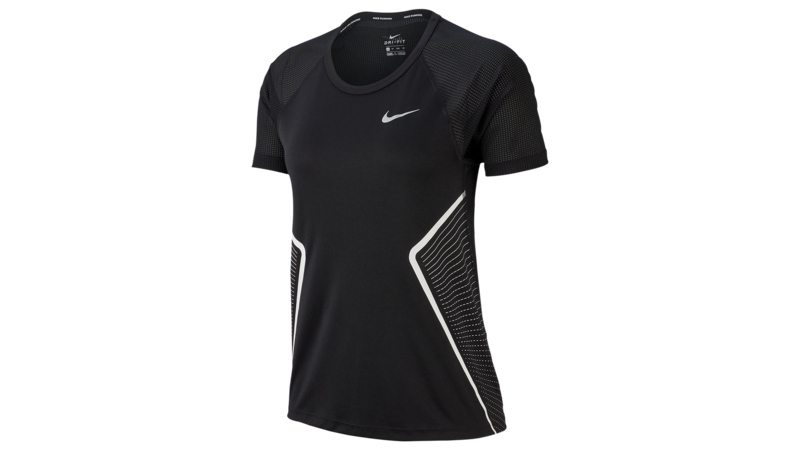 Nike Women Dry Miler Top SS GX black/white