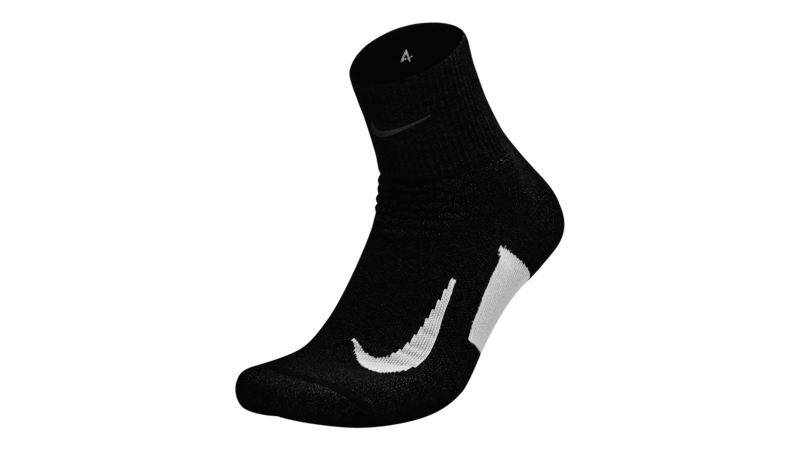 Nike Elite Cushion Quarter Running socks black/white unisex
