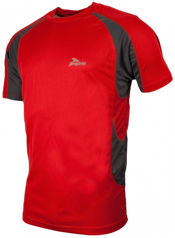 Rogelli T-shirt Clearwater rood/grijs