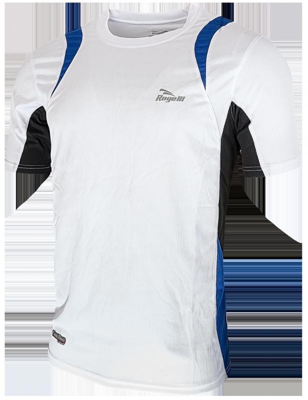 Rogelli Brooklyn t-shirt wit/blauw/zwart