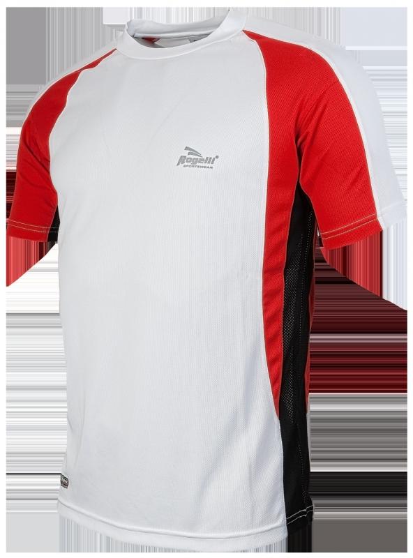 Rogelli Running shirt Elba wit/rood