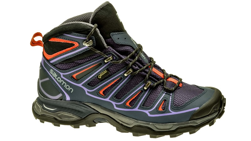 Salomon X Ultra Mid 2 GTX nightshade grey/deep blue/coral punch