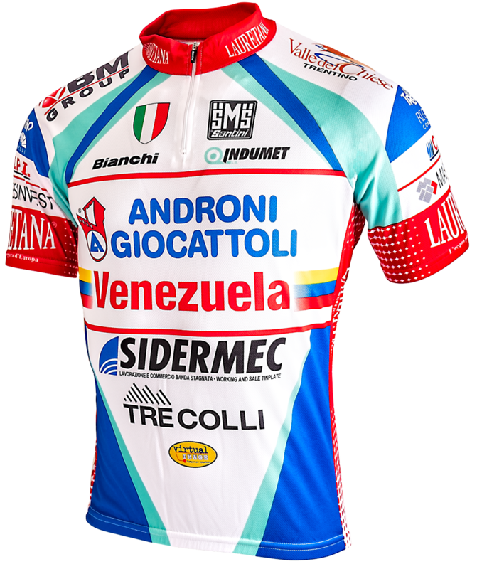 Santini Fietshirt Androni Giocattoli Venezuela Bianchi