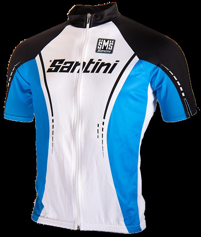 Santini Wieler Shirt Blauw Met Wit