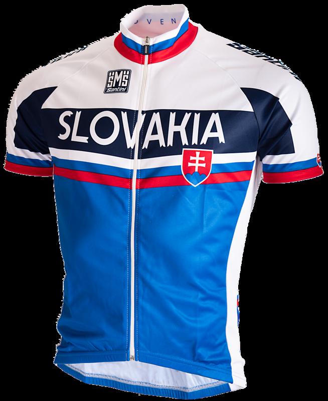 Santini Wielershirt Team Slowakije 2015