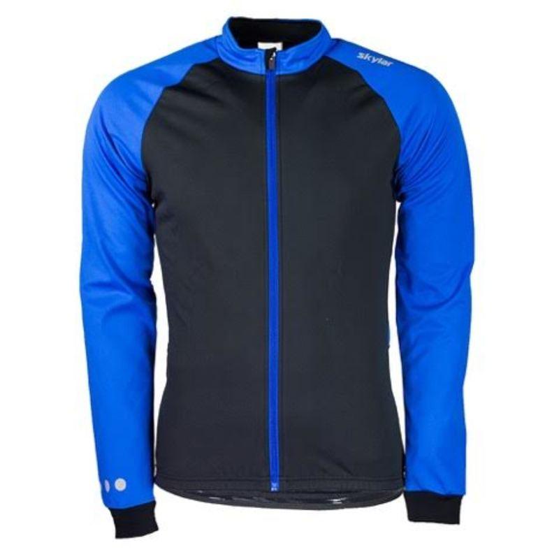Skylar Softshell winterjack  zwart/blauw