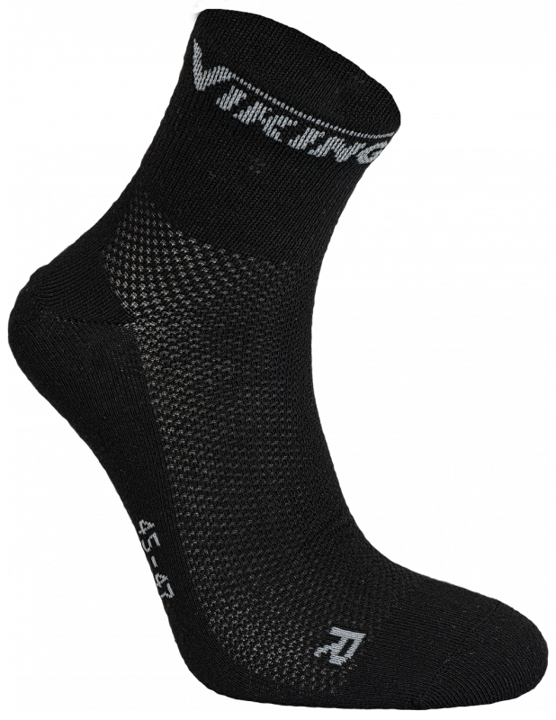 Viking Coolmax sokken zwart (2 paar)