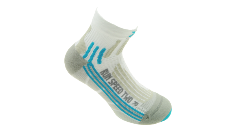 X-Socks Running Speed Two Lady short white/aqua