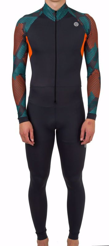 AGU Lycra schaatspak Hexa Camo Green/Orange/Iron Grey