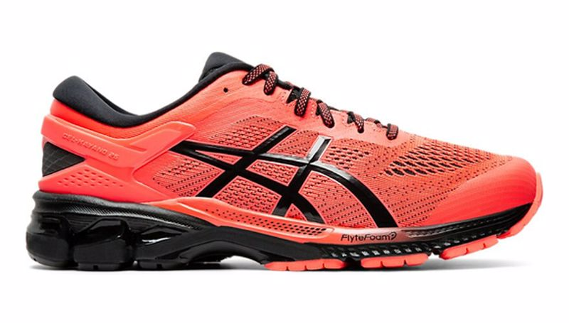 Asics Kayano 26 flash coral/black