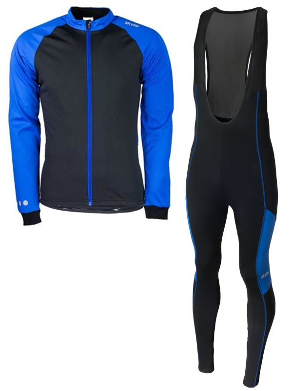 Skylar Softshell winterjack + Manzano Salopet  SET Blauw/Blauw