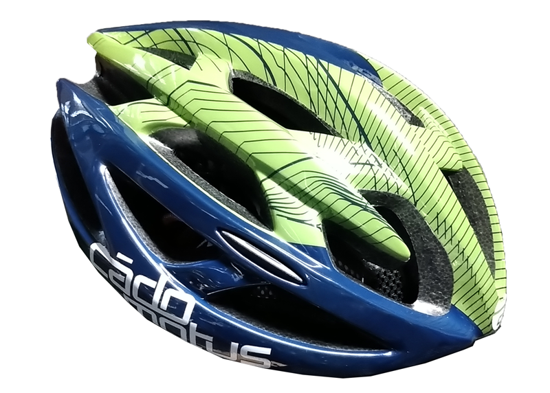 Cádomotus Delta helm | Green & Blue